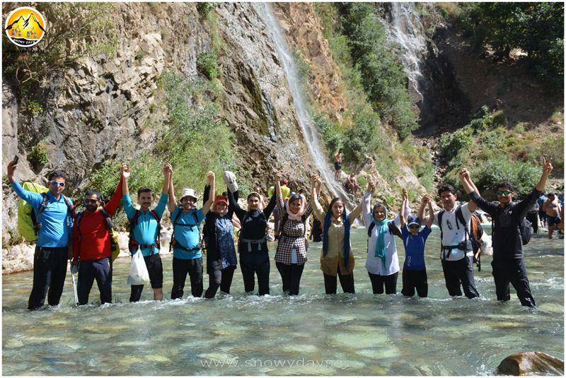 دره نوردی و آبشار لوسه