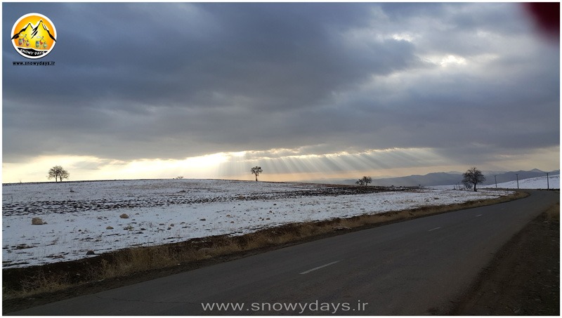 جاده برفی